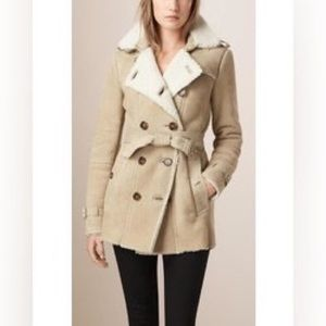 Burberry Brit Shearling Jacket Size 4